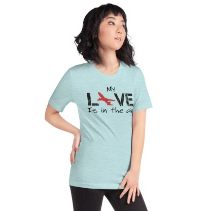 airplaneTees MY Love is in the air tee... Short-Sleeve Unisex 42