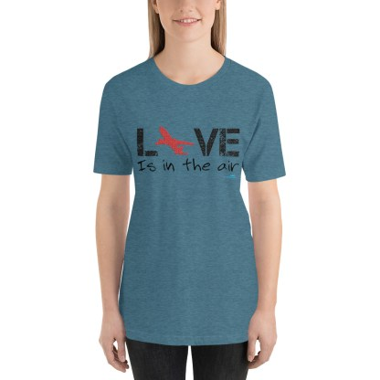 airplaneTees LOVE is in the air tee... Short-Sleeve Unisex 20