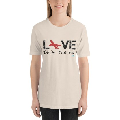 airplaneTees LOVE is in the air tee... Short-Sleeve Unisex 21
