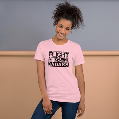 airplaneTees Badass Flight Attendant tee... Short-Sleeve Unisex 9