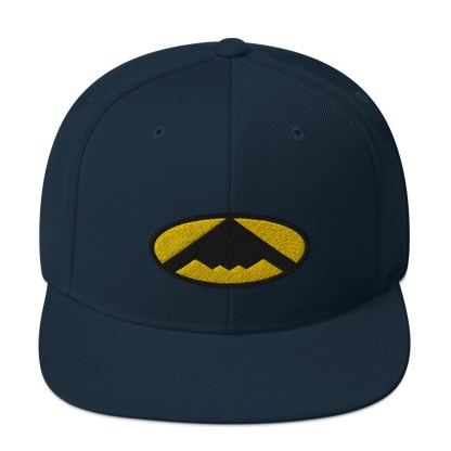 airplaneTees B2 Bomber Snapback Hat – In the style of Batman 6