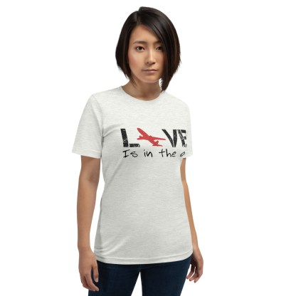 airplaneTees LOVE is in the air tee... Short-Sleeve Unisex 15