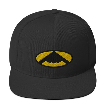 airplaneTees B2 Bomber Snapback Hat – In the style of Batman 4