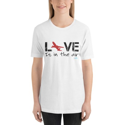 airplaneTees LOVE is in the air tee... Short-Sleeve Unisex 17