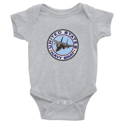 airplaneTees US Navy Brat Onesie... Rabbit Skins Infant Bodysuit 1