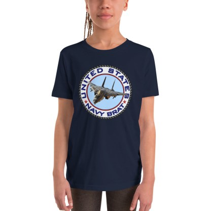 airplaneTees US NAVY BRAT youth tee... w/Back Printed - Youth Short Sleeve 2