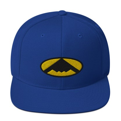 airplaneTees B2 Bomber Snapback Hat – In the style of Batman 10