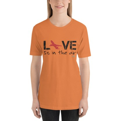 airplaneTees LOVE is in the air tee... Short-Sleeve Unisex 31