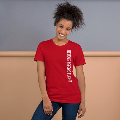 airplaneTees Remove before flight tee... Short-Sleeve Unisex 14