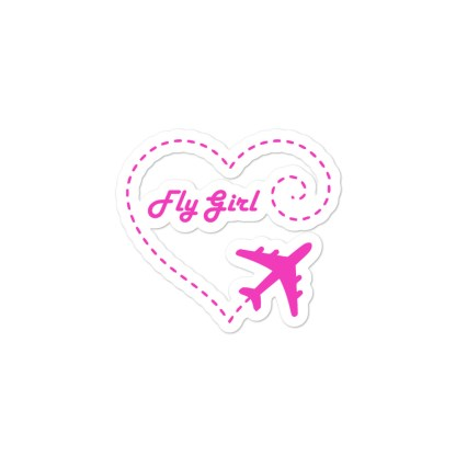 airplaneTees Fly Girl stickers... Bubble-free 2