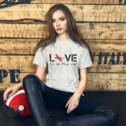 airplaneTees LOVE is in the air tee... Short-Sleeve Unisex 7