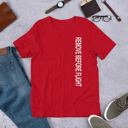 airplaneTees Remove before flight tee... Short-Sleeve Unisex 9