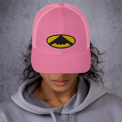 airplaneTees B2 Bomber Trucker Cap – In the style of Batman 2