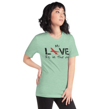 airplaneTees MY Love is in the air tee... Short-Sleeve Unisex 30