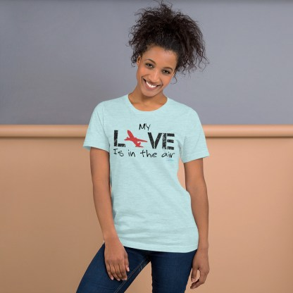 airplaneTees MY Love is in the air tee... Short-Sleeve Unisex 13
