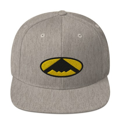 airplaneTees B2 Bomber Snapback Hat – In the style of Batman 8