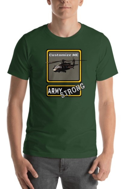 airplaneTees PERSONALIZE IT - Army Strong Tee, Army Mom, Dad, Rank, Class you name it. Short-Sleeve Unisex T-Shirt 1