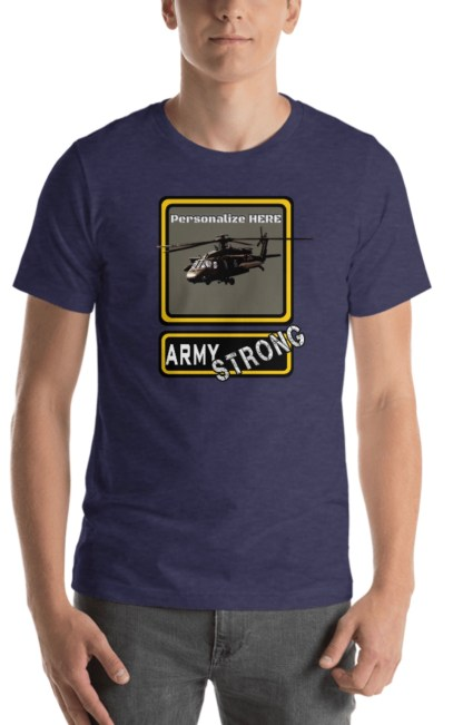 airplaneTees PERSONALIZE IT - Army Strong Tee, Army Mom, Dad, Rank, Class you name it. Short-Sleeve Unisex T-Shirt 28