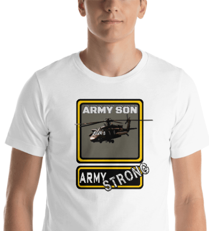 airplaneTees PERSONALIZE IT - Army Strong Tee, Army Mom, Dad, Rank, Class you name it. Short-Sleeve Unisex T-Shirt 18