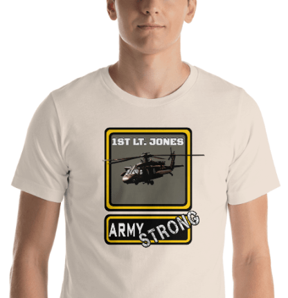 airplaneTees PERSONALIZE IT - Army Strong Tee, Army Mom, Dad, Rank, Class you name it. Short-Sleeve Unisex T-Shirt 26