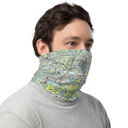 airplaneTees NYC - New York VFR Sectional Face Mask/Face Covering/Neck Gaiter 1