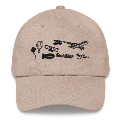airplaneTees Evolution of Flight Dad hat 1