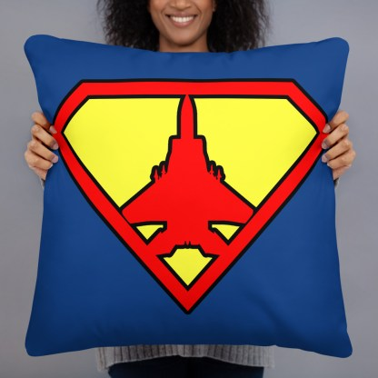 airplaneTees Super Fighter Pilot Pillow 1