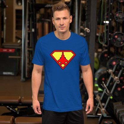 airplaneTees Super Fighter Pilot Tee... Short-Sleeve Unisex 7