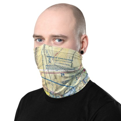 airplaneTees LAS - Las Vegas VFR Sectional Face Mask/Face Covering/Neck Gaiter 1