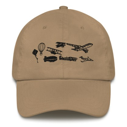 airplaneTees Evolution of Flight Dad hat 6