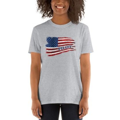 airplaneTees Pilot US Flag Tee... Short-Sleeve Unisex 4