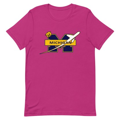 airplaneTees Michigan Wolverines Tee, with an airplane... Short-Sleeve Unisex 18