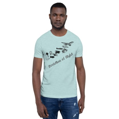 airplaneTees Evolution of Flight... Short-Sleeve Unisex T-Shirt 2