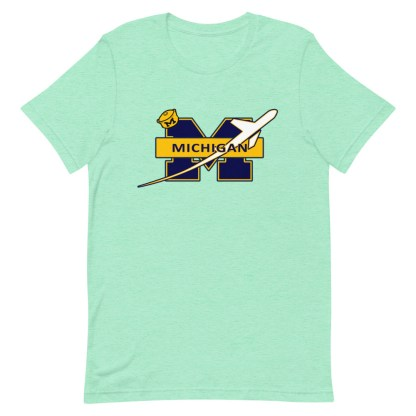 airplaneTees Michigan Wolverines Tee, with an airplane... Short-Sleeve Unisex 16