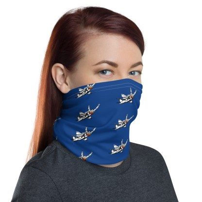 airplaneTees SuperPlane Face Mask/Face Covering/Neck Gaiter - Dark Blue 1