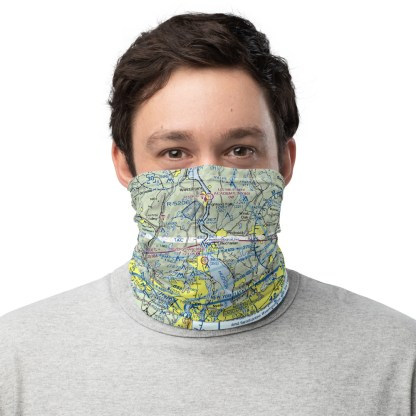 airplaneTees NYC - New York VFR Sectional Face Mask/Face Covering/Neck Gaiter 2