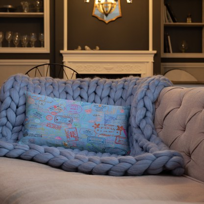 airplaneTees Going Places Pillow - Light Blue 4