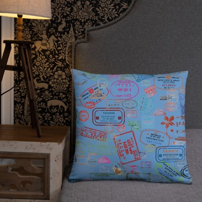 airplaneTees Going Places Pillow - Light Blue 29
