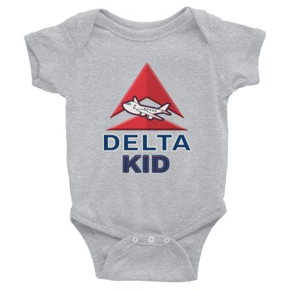 airplaneTees Delta Kid Onesie... Rabbit Skins... Infant Bodysuit 1