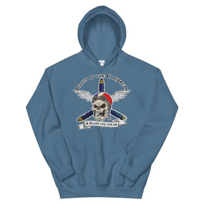 airplaneTees Pilots of the Caribbean Hoodie... w/Back printed... Unisex 1