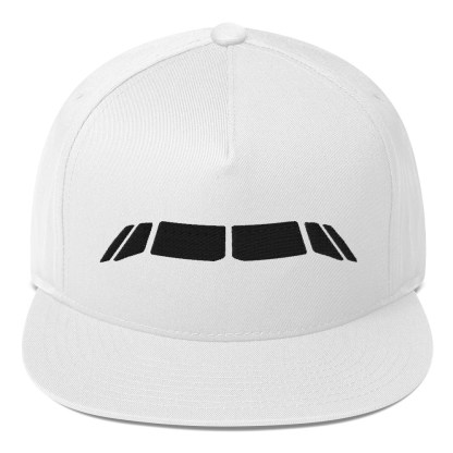 airplaneTees Airbus Flightdeck Windows Cap... Flat Bill 3