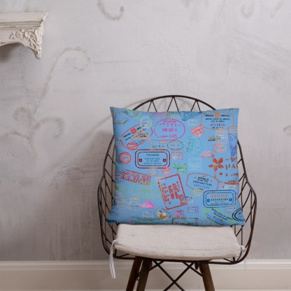 airplaneTees Going Places Pillow - Light Blue 35