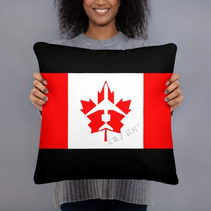 airplaneTees Canada CRJ eh Pillow - Different Images on each side 4