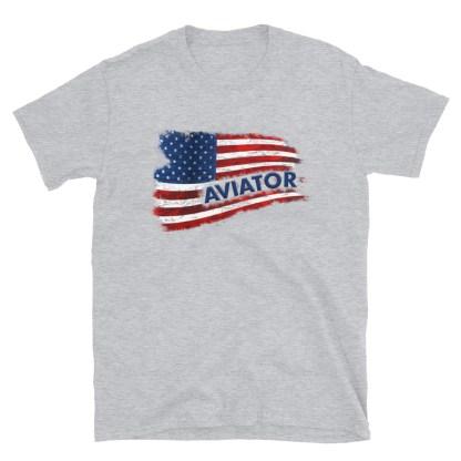 airplaneTees Aviator US Flag tee... Short-Sleeve Unisex 1