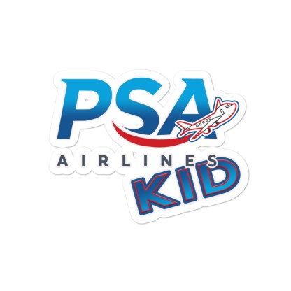 airplaneTees PSA Airlines Kid stickers... Bubble-free 3