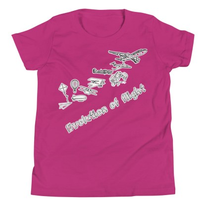 airplaneTees Evolution of Flight Youth Tee... Short Sleeve 11
