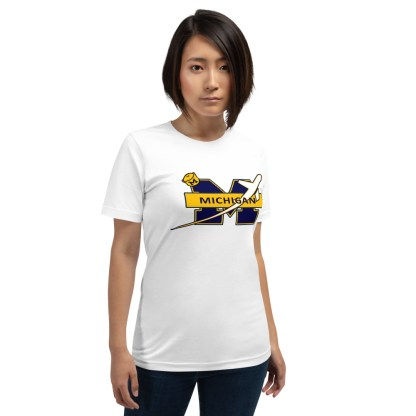 airplaneTees Michigan Wolverines Tee, with an airplane... Short-Sleeve Unisex 5