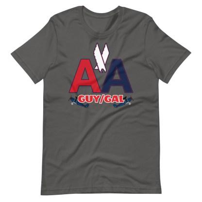 airplaneTees CUSTOM AA Tee, American Guy/Gal Tee Short-Sleeve Unisex 8