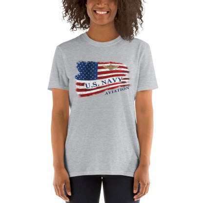 airplaneTees US Navy Aviation American Flag Tee... Short-Sleeve Unisex 5