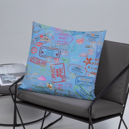 airplaneTees Going Places Pillow - Light Blue 38
